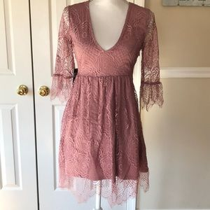 Express Dresses - Express Mauve 3/4 Sleeve Dress Sz 0
